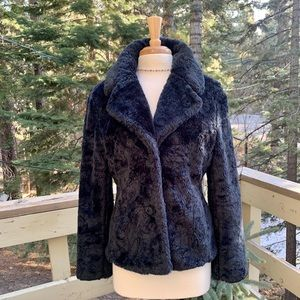 Odille Anthropology Faux Fur Jacket